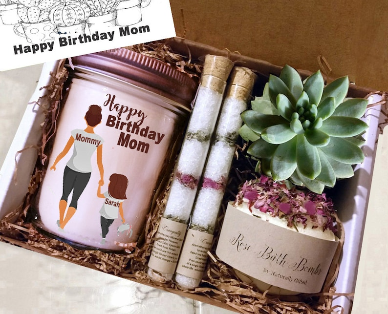 Birthday Gift Box For Her Personalized Spa Day