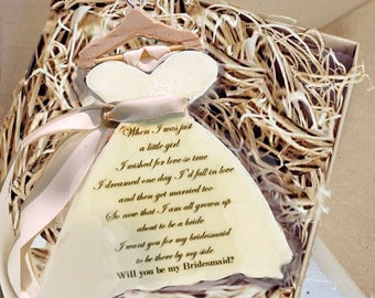 5-Will you be my Bridesmaid-Chocolate Gift, Will you be my Bridesmaid Gift, Maid of Honor, Flower Girl, Boxed