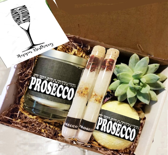 Birthday Gift Best Friend Prosecco Box Bath Bombs For Her Mom