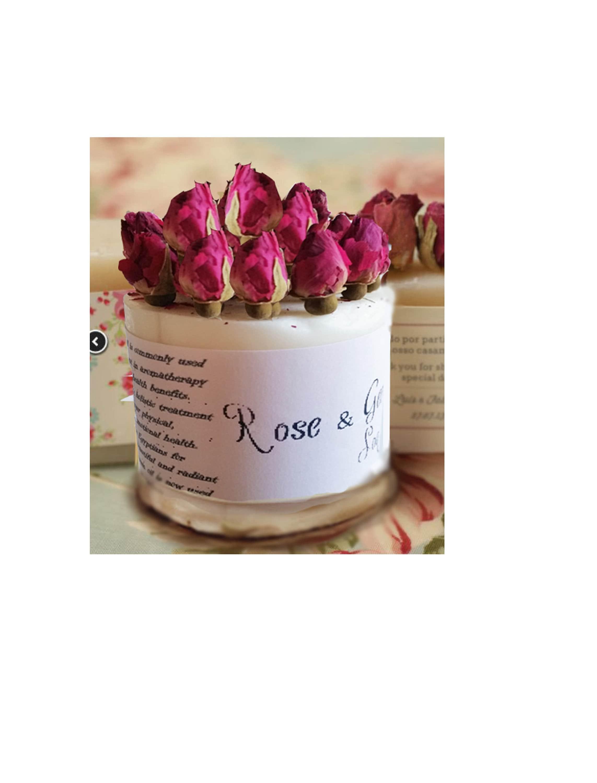 Rose Soap Birthday Gift Elegant Thinking Of You