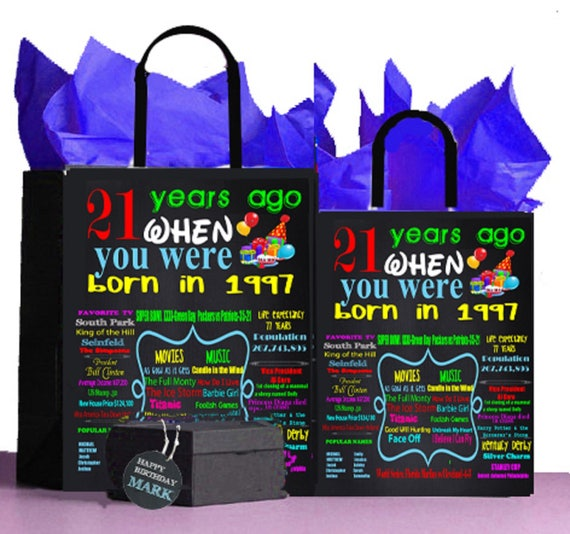 1997 21st Birthday GiftGift Bag A Perfect Way To Turn The