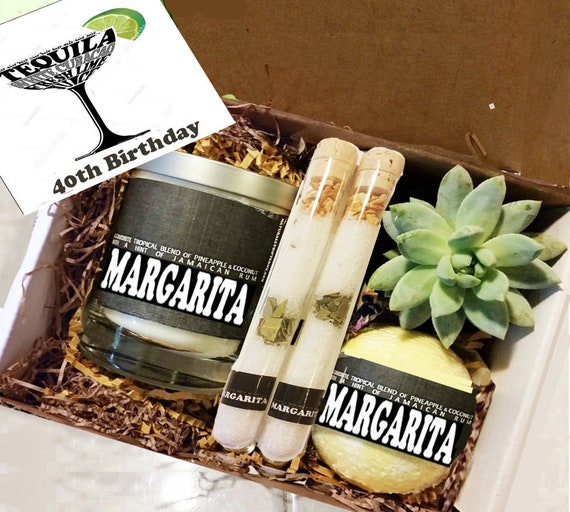 Birthday Gift Best Friend 40th Margarita Candle BoxThinking Of You For Her