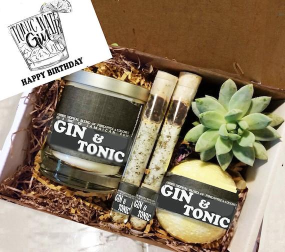 Birthday Gift Best Friend Gin Tonic Box Spa