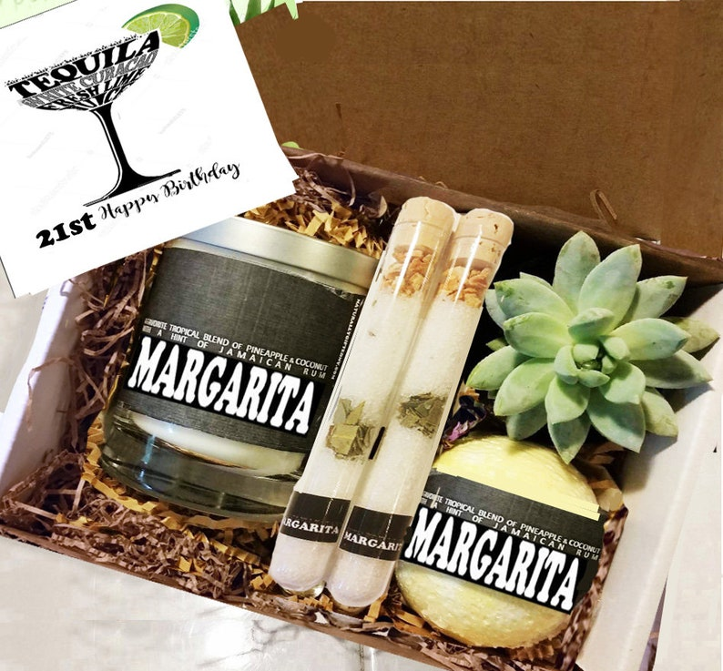 21st Birthday Gift Box Margarita Candle