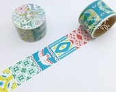 Pastel Nature Washi Tape Japanese Washi Tape Mosaic Pastel Nature Decorative Tape Aimez le style Washi Tape (04925)
