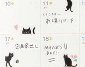 Kitty Cat Schedule Sticker Mini Sticker For Diary Agenda • Mark's Sticker (DA-ST21-A)