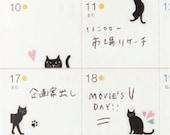 Kitty Cat Schedule Sticker Mini Sticker For Diary Agenda • Mark's Sticker (DA-ST21-A)
