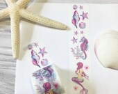 Magical Underwater World Washi Tape Seashell Washi Tape Seahorse Washi Tape Mermaid Washi Tape