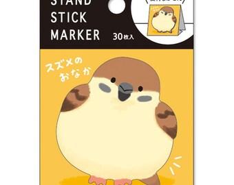 Mind Wave stand stick marker Piyokomame sticky notes