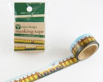 Fence Tape Round Top Masking Tape • Yano Design Debut Series Natural Washi Tape YD-MK-017