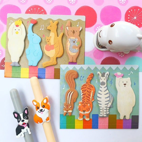 Animal Sticky Notes Amifa Animal Adhesive Tabs Page Markers (44492)