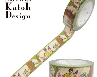 Snow White Masking Tape • Shinzi Katoh Design Japanese Washi Tape (ks-mt-10136)
