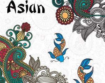 Zen Inspriations Coloring Book • Asian Colouring Book • Art Zone (AZ0103)