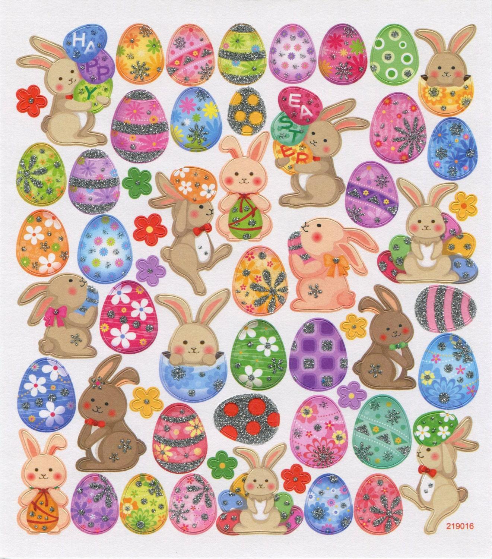Happy easter eggs stickers • easter egg sticker • easter bunny sticker • easter favors • easter treats • easter egg • easter rabbit sk4924