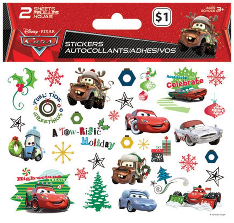 Disney Cars Christmas Clipart.Disney Cars Stickers Sale Bundle Discount 11 Packs Christmas Stocking Stuffers Disney Cars Favor Cars Treats For Goodie Bag St6978