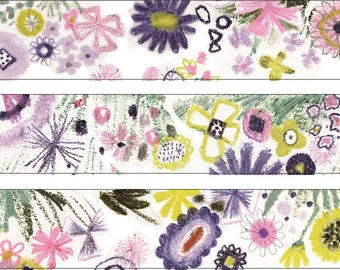 Perfume Wildflower Masking Tape • Shinzi Katoh Design Japanese Washi Tape (ks-mt-10022)