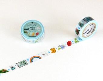 Rainy Day Washi Tape • Round Top Masking Tape Yano Design • Raining Washi Tape YD-MK-073