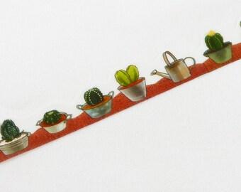 Cactus Tape Round Top Masking Tape • Yano Design Debut Series Natural Washi Tape YD-MK-011