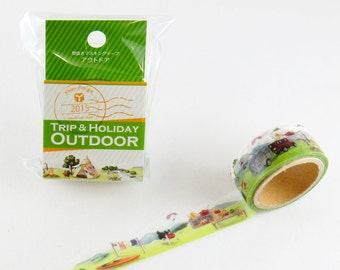 Outdoor Tape Round Top Masking Tape • Yano Design Trip & Holiday Washi Tape YD-MK-060