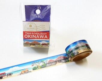 Okinawa Tape Round Top Masking Tape • Venice Yano Design Trip & Holiday Washi Tape YD-MK-094