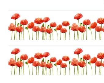 Poppy Flower Washi Tape • Poppy Field Tape