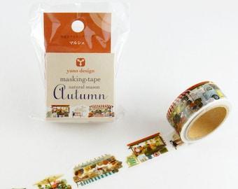 Autumn Marche Washi Tape Round Top Masking Tape • Yano Design Natural Season YD-MK-050