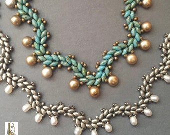 Gentle Waves Necklace - Beth Stone - seed bead beaded tutorial pattern instructions