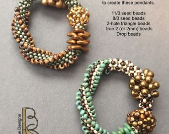Take 5 - a multi-technique seed bead stitch design tutorial by Beth Stone