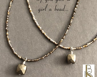 Seed Bead Necklace - Beth Stone