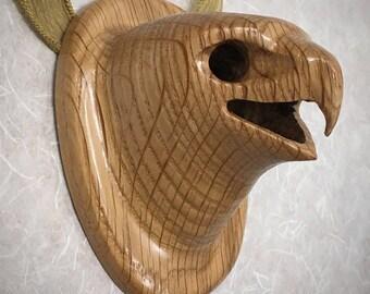 Hawk Pendant Mask necklace wood carving