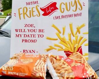 Fries Before Guys: Editable Dance Proposal Invitation Kit