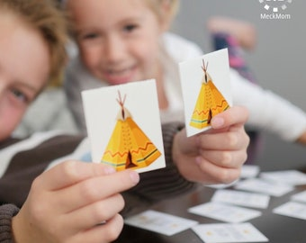 Thanksgiving Kids Table Game: Give Thanks Memory