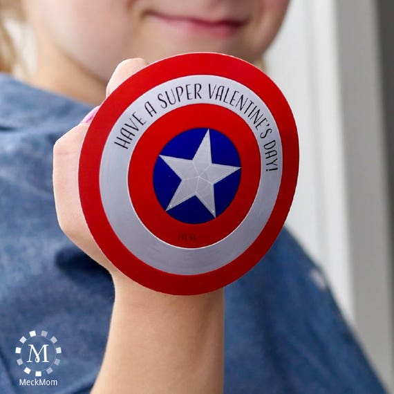 photograph about Captain America Shield Printable identified as Captain The us Safeguard Printable Tremendous Hero Valentines