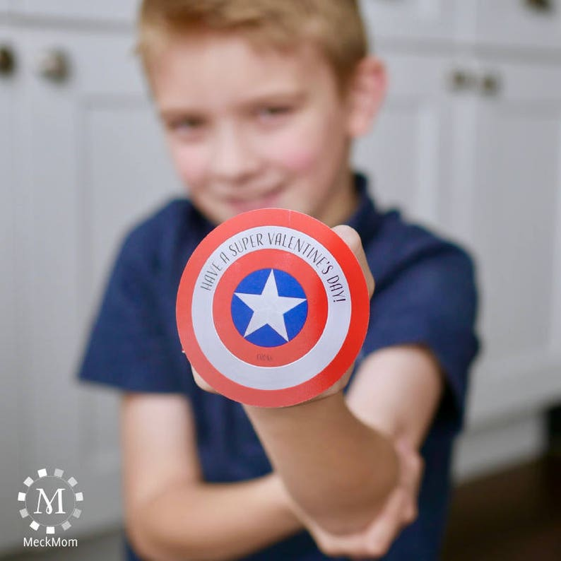 photograph relating to Captain America Shield Printable titled Captain The united states Secure Printable Tremendous Hero Valentines