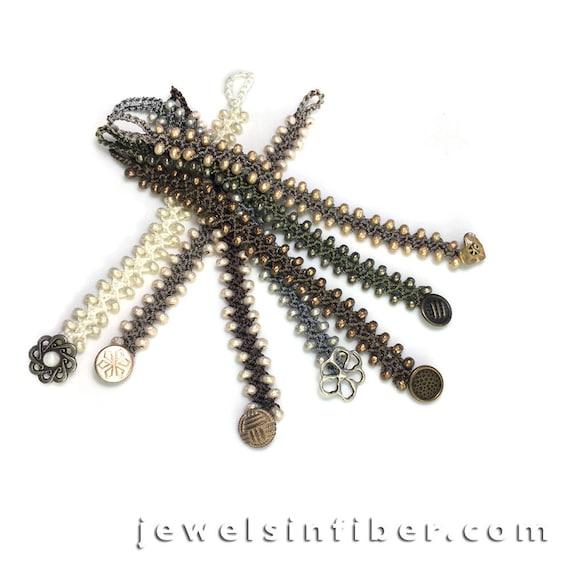 Armband Häkeln Bausatz Türkische Flache Perle Häkelarmband Etsy