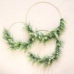 Eucalyptus metal wreath, Gold metal hoop, Minimalistic wreath, Artificial eucalyptus hoop, Eucalyptus greenery hoop, Home decor wreath