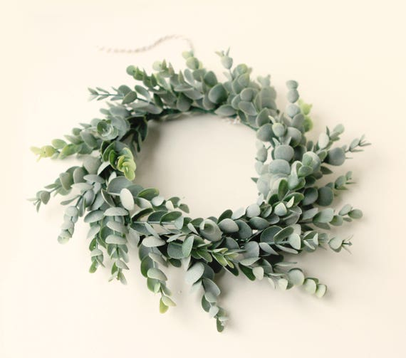 Famous Faux eucalyptus wreath Artificial greenery Leaf home decor XH93