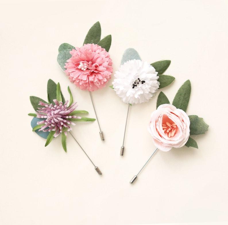 Stick pin flower Flower boutonniere Stick pin boutonniere image 0