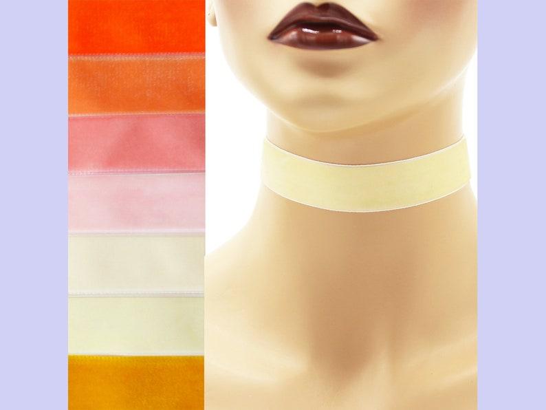 Yellow or Orange Velvet Choker 7/8 inch wide Custom made Your image 0