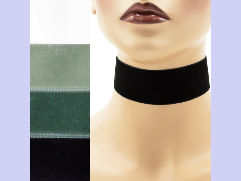 Velvet Choker 1.5 inches wide Custom made Your Length and image 0