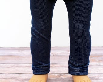 Fits like American Girl Doll Clothes - Light Denim Blue Jeggings   18 Inch Doll Clothes