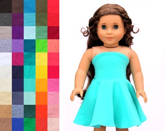 d190ddbdc165 Fits like American Girl Doll Clothes - Simply Summer Bandeau Dress, You  Choose Color | 18 Inch Doll Clothes 030