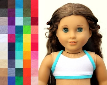 Fits like American Girl Doll Clothes - Cropped Sports Top, You Choose Colors | 18 Inch Doll Clothes