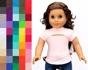 Fits like American Girl Doll Clothes - The Tatiana Top, You Choose Color   18 Inch Doll Clothes
