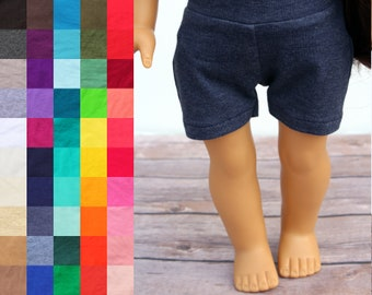 Fits like American Girl Doll Clothes - Jogger Shorts, You Choose Color | 18 Inch Doll Clothes