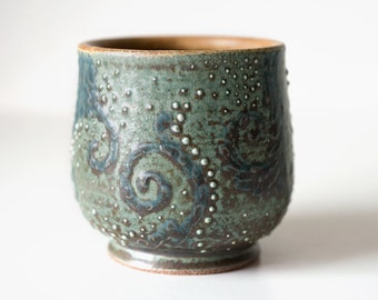 Starry Night Cup, Stoneware, 12 Ounces