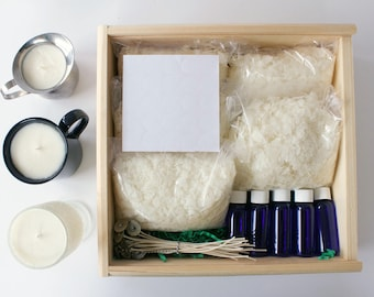 How to Make Candles. Soy Candle Making Kit. Candle Kit. DIY Candle Kit. Candle Making Kit. Craft Kit for Adults. Make Candles at Home.