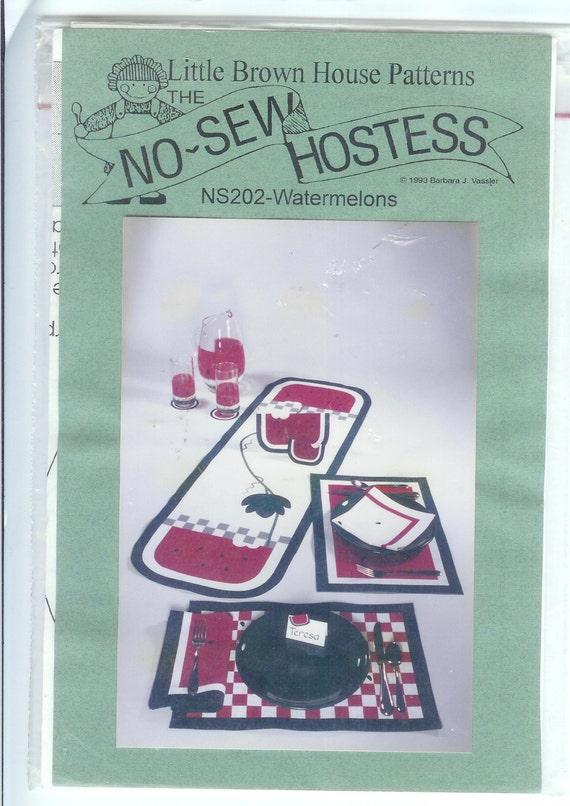 Tischsets Servietten kein Nähen Gastgeberin Watermellon   Etsy