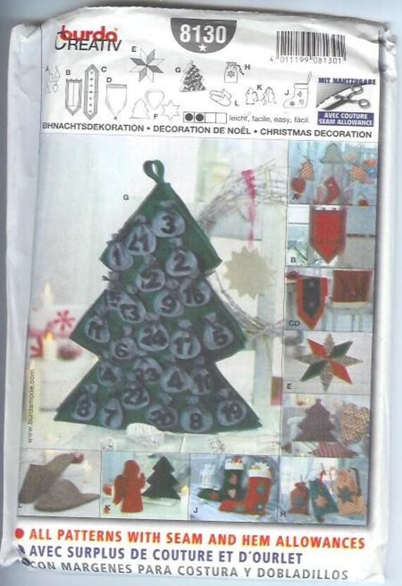 Burda Weihnachten Urlaub Baum Dekoration Wand hängen Strumpf | Etsy