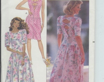 Butterick Misses Dress Vintage Sewing Pattern 4084 Size 8-10-12